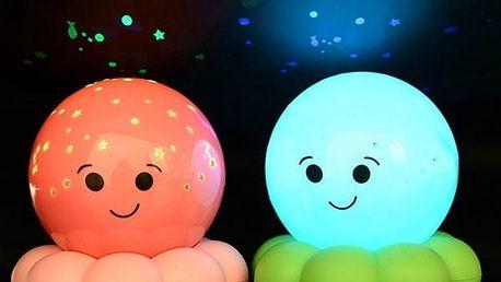 Chobotnice - noční osvětlení na stolek