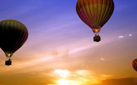 Hodinový let horkovzdušným balónem. Zážitek pro Vás nebo skvělý dárek za úžasnou cenu!