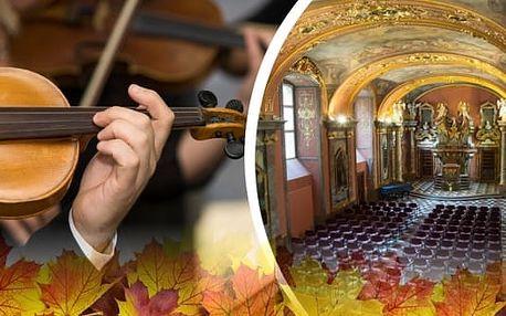 Koncert v Zrcadlové kapli Klementina, Smetana, Dvořák and Vivaldi in Old Prague. Listopadové termíny. Zpříjemněte si podzim a zaposlouchejte se do tónů mistrů klasické hudby v podání Dvořák Symphony Orchestra Prague v komorním obsazení.