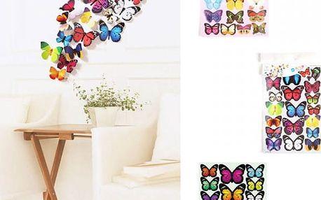 Samolepka na zeď - 3D motýlci