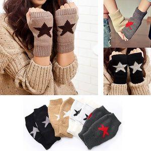 Dámské pletené rukavice s hvězdičkou
