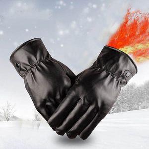 Unisex rukavice z PU kůže v černé barvě - 2 provedení