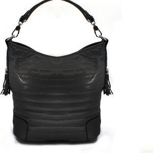 Co & Coo Fashion Dámská kabelka s třásněmi metalický design