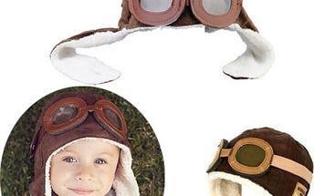 Dětská retro čepice - pilot - 2 barvy