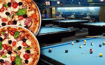 Karambol nebo billiard a dvě pizzy k tomu