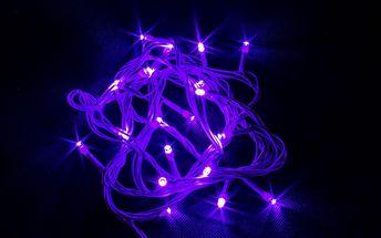 Vánoční řetěz LED osvětlení 10m, 100 LED, kabel bílý
