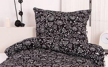 XPOSE ® Bavlněné povlečení SELENA EXCLUSIVE - černá 140x200, 70x90