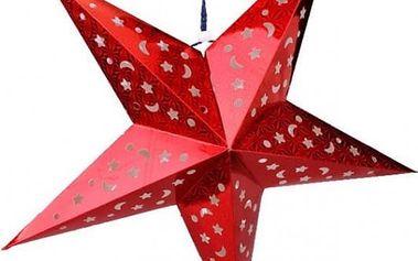 Trojrozměrná vánoční hvězda - červená - dodání do 2 dnů