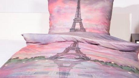 XPOSE ® Bavlněné povlečení PAŘÍŽ - ČERVÁNKY 140x200, 70x90