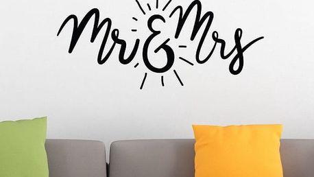 Samolepka na zeď - Mr and Mrs