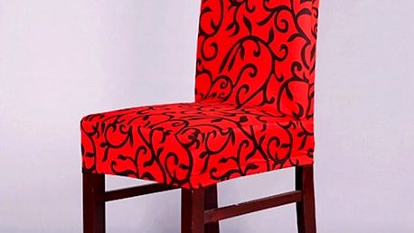 Potah na židli v elegantním designu - červeno - černá - dodání do 2 dnů