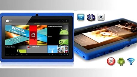 Výkonný 7palcový, 4jádrový tablet s Android 4.4 a dual kamerou