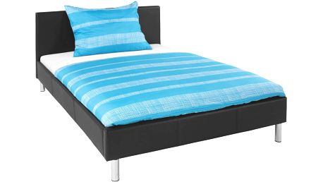 Čalouněná postel Champ, hnědá 147/88/212 cm
