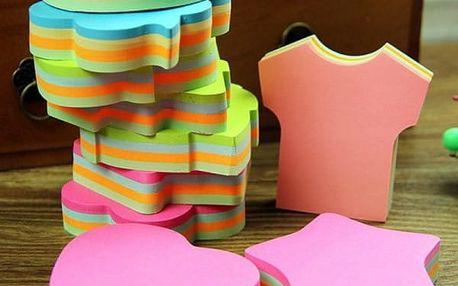 Roztomilé samolepicí bločky - mix barev a tvarů