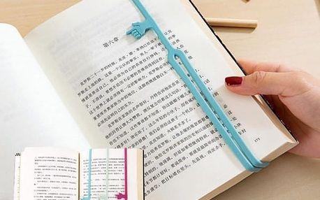 Silikonová záložka do knihy s ručičkou - 3 ks