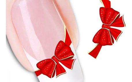 Samolepky na nehty s motivem mašle - 3 listy