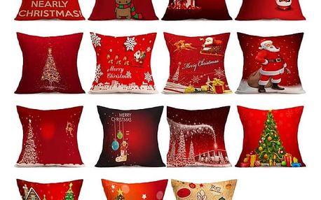 Povlaky na polštáře s vánočními motivy