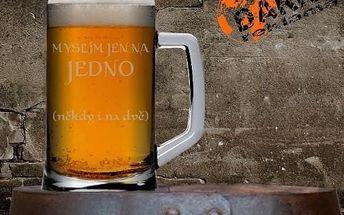 Pískované půllitry ruční výroby s motivem pivním, vodáckým, vlastním nebo zvěrokruhu
