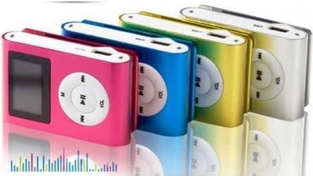 Zrcadlový MP3 přehrávač včetně sluchátek a napájecího kabelu či MP3 přehrávač s displejem