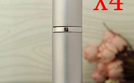 Flakónek na parfém ve stříbrné barvě - 4 kusy