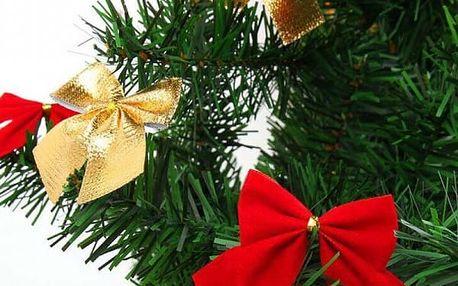 Vánoční dekorativní mašle - 12 kusů