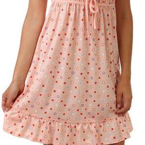 Puntíkovaná noční košilka na úzká ramínka II.jakost růžová