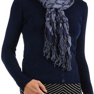 Šátek s kostkovaným vzorem tmavě modrá