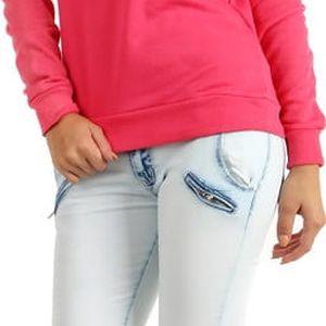 Slabší mikina/tričko s potiskem růžová