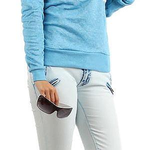 Slabší mikina/tričko s potiskem modrá