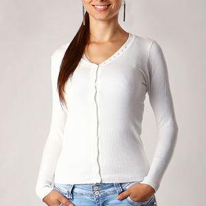 Elegantní svetr bílá