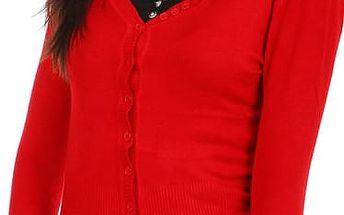 Elegantní svetr červená