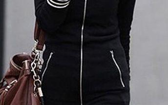 Elegantní prodloužená mikina Zanzea® - černá
