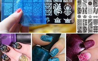 Šablona pro neobvyklé nail art dekorace