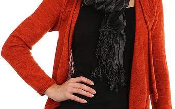 Šátek s kostkovaným vzorem černá