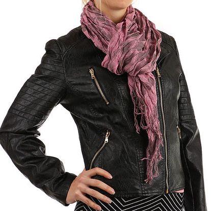 Šátek s kostkovaným vzorem růžová