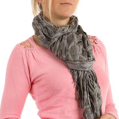 Šátek s kostkovaným vzorem světle šedá