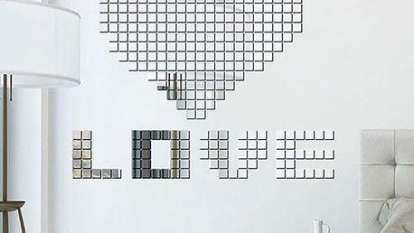 Samolepka na zeď - mozaika ze zrcadlových kostek
