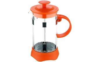Konvička na čaj a kávu French Press 600 ml oranžová RENBERG RB-3108oran