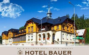 Podzimní pobyt s volným vstupem do moderního wellness centra a výtečnou polopenzí pro 2 osoby v Hotelu Bauer