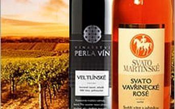 Ochutnejte mezi prvními jak se povedl vinařům letošní ročník. Zakupte sadu dvou mladých vín z vinařství Perla.