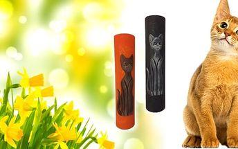 Velká dekoračnísvíčkapro milovníky koček. Na výběr ze dvou barev.