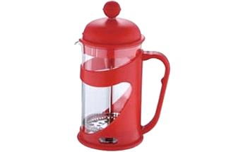Konvička na čaj a kávu French Press 350 ml červená RENBERG RB-3100cerv