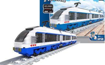 Stavebnice AUSINI vlak rychlovlak 681 dílů
