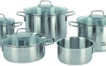 Sada nádobí nerez 5 ks BARCELONA s poklicemi FISSLER FS-8211305002