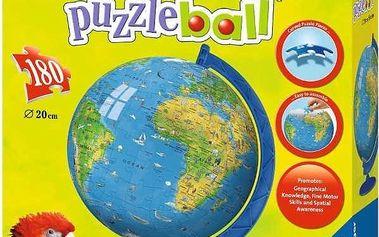 Ravensburger puzzle Mapa světa Puzzleball 180 dílků