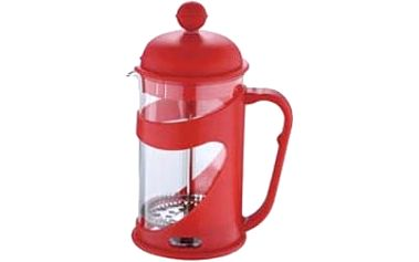 Konvička na čaj a kávu French Press 600 ml červená RENBERG RB-3101cerv
