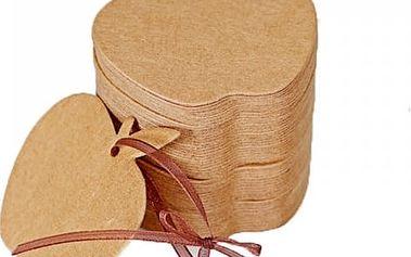 100 kusů dárkových visaček - jablko - poštovné zdarma