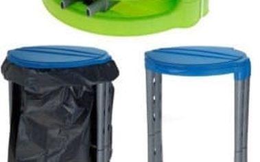 Stojan s poklopem plastový na pytle 120 l, modrá ProGarden KO-Y54910050modr