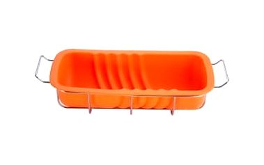 Forma na srnčí hřbet ve stojanu silikonová, oranžová RENBERG RB-3667oran