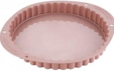 Forma s vlnitým okrajem silikonová 27 cm, krémová BERGNER BG-4728krem